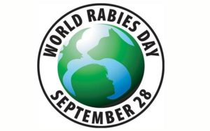 world rabies day logo for 2020 13th anniversary - rabies: vaccinate to eliminate