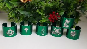 Custom Christmas Napkin Rings