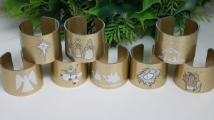 Holiday napkin rings for Christmas, Hanukkah, and general winter seasonal designs