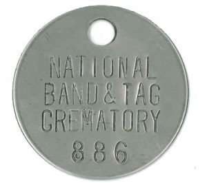 Cremation Tags with unique ID number