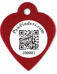 rabies tags with a QR Code
