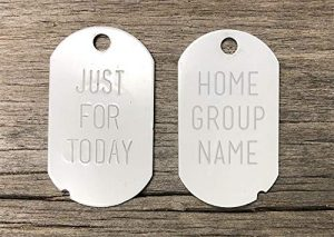 Narcotics anonymous recovery key tags