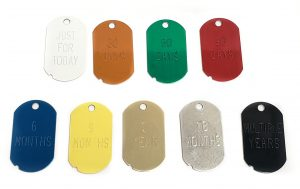 full set of recovery key tags