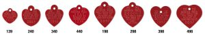 red heart rabies tags