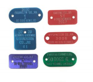 kennel licensing on dog tags example